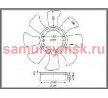 Вентилятор охлаждения радиатора ISUZU (NQR71) 4HF1/4HG1/4JG2 (410/8)