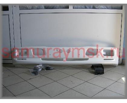 Бампер с отв. для туманок,широкая кабина + крепёж NQR75