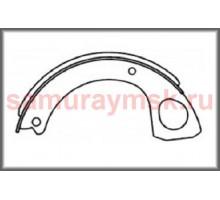 Колодки стояночного тормоза ISUZU FORWARD NRR/FRD/FSR/(FSR90 4HK1)