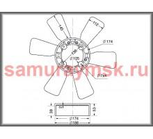 Вентилятор охлаждения радиатора HINO FD#/FF#/H07C/H07D/J05CD/W04C