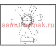 Вентилятор охлаждения радиатора ISUZU 6BG1/6BF1 (470/6)