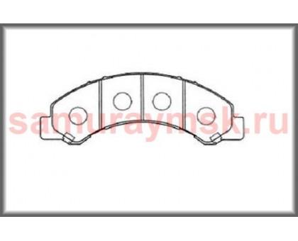 Колодки дисковые HINO 300 E-3/E4 /BOGDAN/ISUZU ELF NKR81/NKR85/NPR66 LT